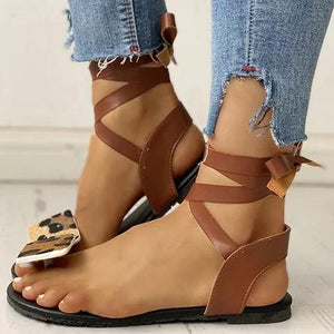Buy Cheap Women Casual Daily Comfy Lace Up Flat Sandals Online - Supsandal
