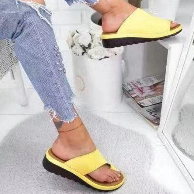 Buy Cheap girl sandalias mujer women summer beach sandals chunky mid heels slides casual wedge slippers shoes woman sapato feminino D33146 Online - Supsandal
