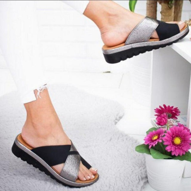 Buy Cheap girls sandalias mujer women summer beach sandals mid med heels peep toe slippers slides wedge shoes woman sapato feminino HP319 Online - Supsandal