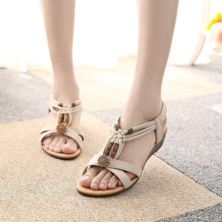 Buy Cheap Women Comfort Summer Sandals Retro Flip Flops Wedge Sandals Online - Supsandal
