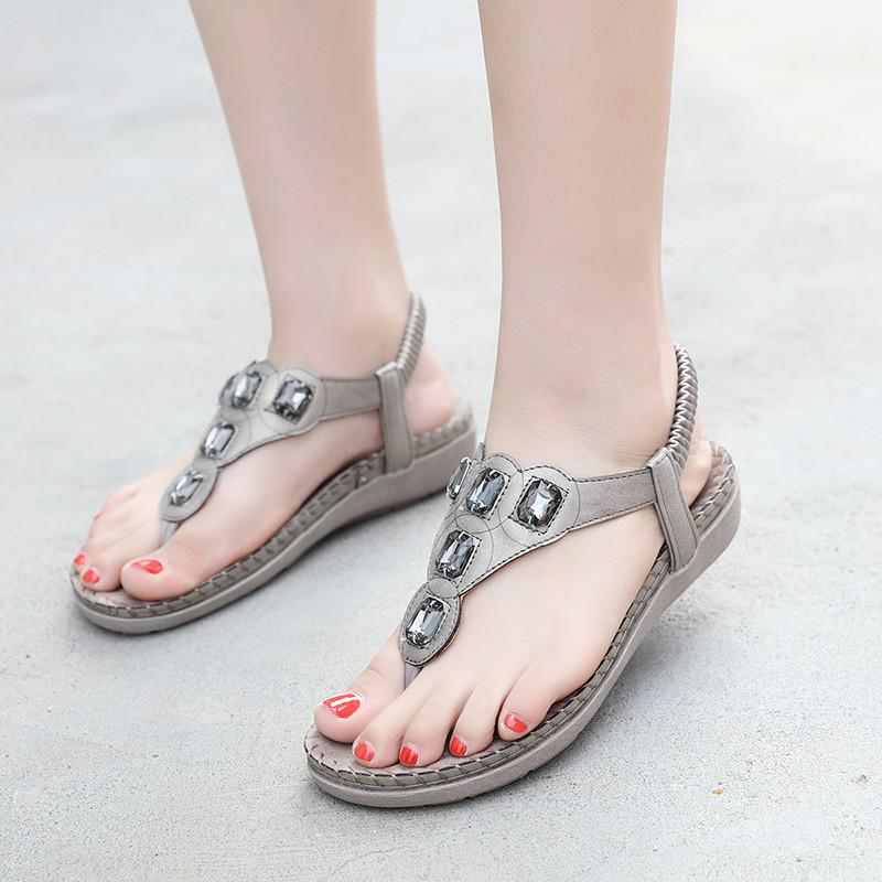 Buy Cheap Women Plus Size Crystal Sandal Shoes Summer Footwear Beach Flip Flops Shoes Online - Supsandal