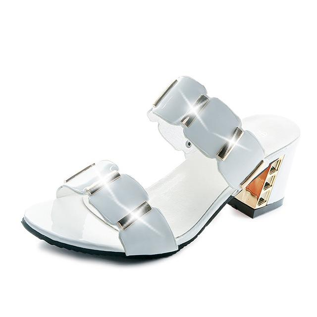 Buy Cheap Designer Crystal Sandals Women Classic Shiny Open Toe High Heels Sandals Online - Supsandal