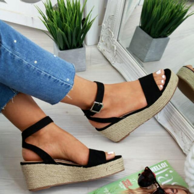 Buy Cheap Women's Sommer Wedge Platform Sandals Beach Strap Sandal Casual Peep Toe Sandals Online - Supsandal