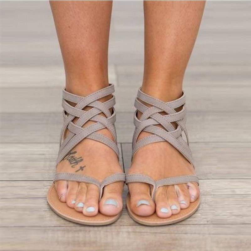 Buy Cheap Women Sandals Female Flat Sandals  Rome Style Cross Tied Sandals Online - Supsandal
