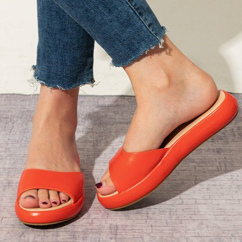 Buy Cheap women summer beach sandals flats casual shoes woman PU leather slippers slides candy sweet sandalias mujer sapato feminino H1680 Online - Supsandal