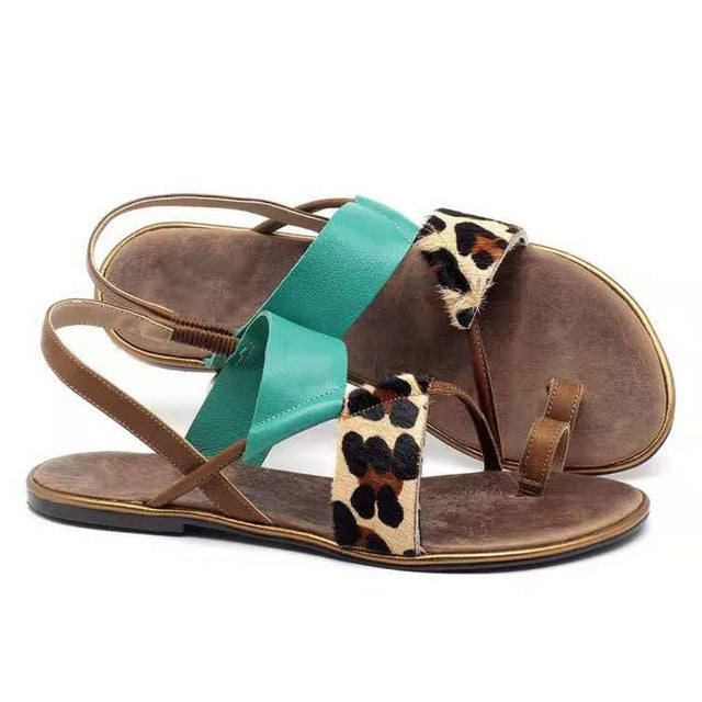 Buy Cheap women summer beach sandals flats casual shoes woman plus size flip thong gladiator patchwork sandalias mujer sapato femininoD091 Online - Supsandal