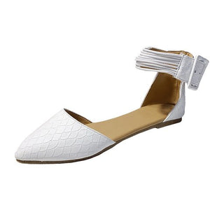 Buy Cheap women summer beach sandals flats casual shoes woman plus size pointed toe PU leather flat sandalias mujer sapato feminino D026 Online - Supsandal