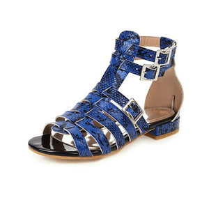 Buy Cheap women summer beach sandals flats shoes woman PU leather plus size gladiator cross-tied flat sandalias mujer sapato feminino D238 Online - Supsandal