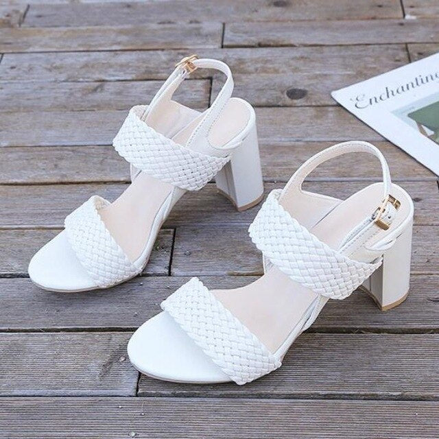 Buy Cheap women summer beach sandals high heels pumps plus size shoes woman gladiator PU leather sandalias mujer sapato feminino D162 Online - Supsandal