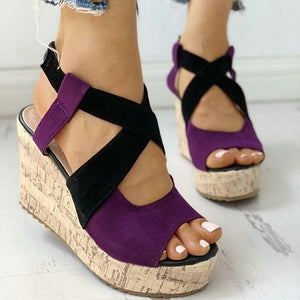 Buy Cheap women summer beach sandals high heels wedges shoes woman peep toe plus size gladiator pumps sandalias mujer sapato feminino D106 Online - Supsandal