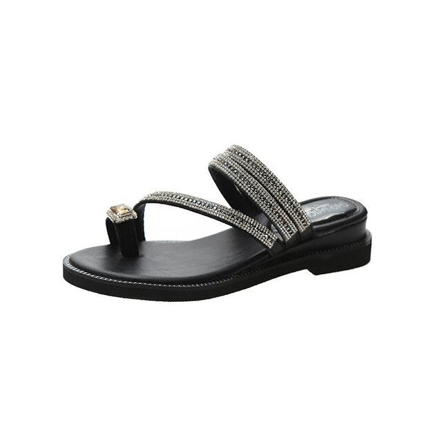 Buy Cheap women summer crystal sandals chaussures femme shoes woman zapatos de mujer thong slippers slides sandalias sapato feminino D103 Online - Supsandal