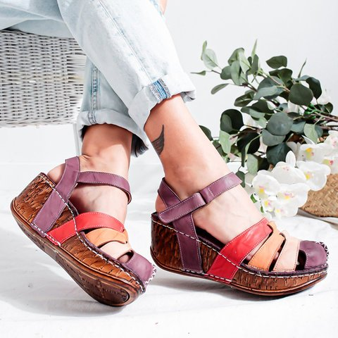 Buy Cheap women summer sandals casual shoes woman luxury PU leather gladiator wedges platform heels sandalias mujer sapato feminino H723 Online - Supsandal