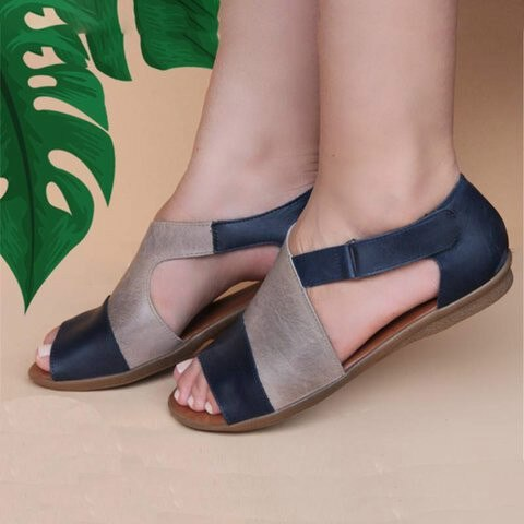 Buy Cheap women summer sandals flats casual single shoes woman vintage PU leather open toe flat sandalias mujer sapato feminino H1214 Online - Supsandal
