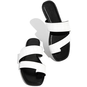 Buy Cheap women summer sandals flats plus size casual shoes woman PU leather slippers flip thong sandalias mujer sapato feminino D150 Online - Supsandal