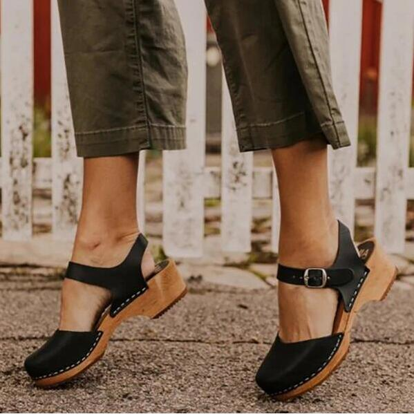 Buy Cheap women summer sandals high heels plus size pumps shoes woman gladiator vintage PU leather sandalias mujer sapato feminino D199 Online - Supsandal