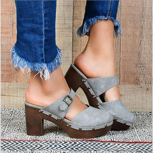 Buy Cheap women summer sandals high heels pumps plus size shoes woman PU leather slippers platform sandalias mujer sapato feminino D252 Online - Supsandal