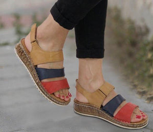 Buy Cheap women summer sandals low heels pumps wedges shoes woman gladiator vintage PU leather sandalias mujer sapato feminino H1545 Online - Supsandal