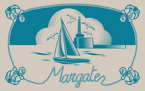 Margate Tea Towel by Mini Moderns