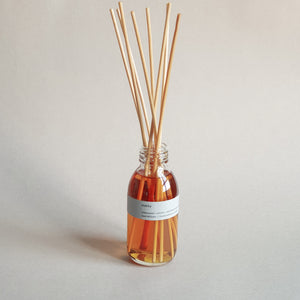 Kaskia manly reed diffuser, clear bottle