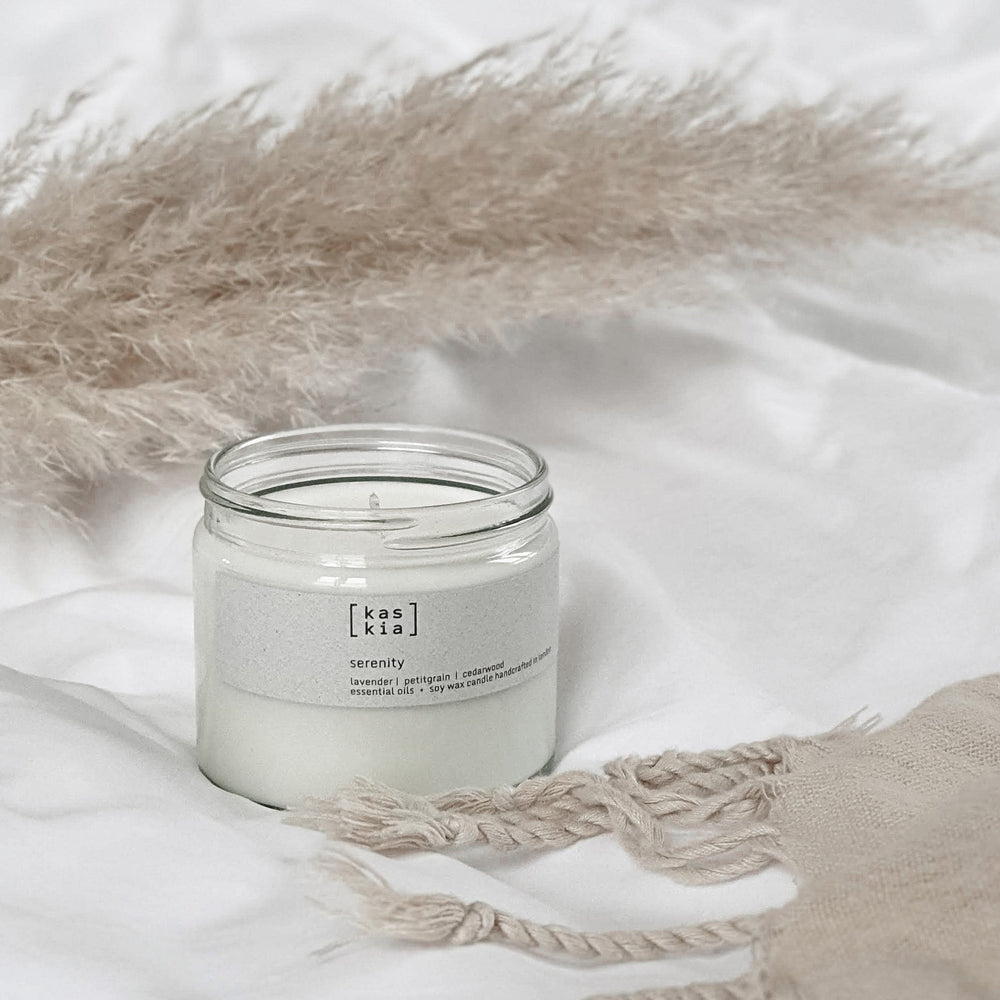 Kaskia serenity candle, clear collection