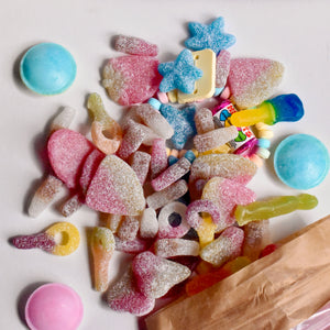 Palm free mixed sweet pouch - 700g. FREE DELIVERY & FREE GOURMET LOLLIPOP!
