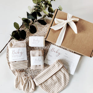 Personalised Newborn Eco Friendly Vegan Gift Set