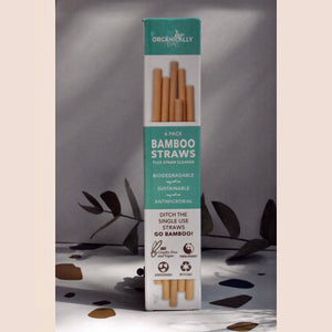 Organically Epic Reusable Bamboo Straws, Pack of 6