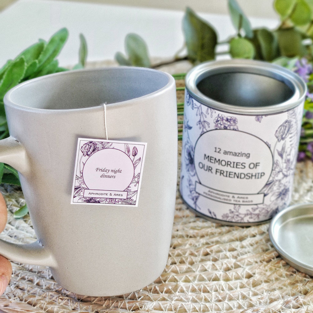 MEMORIES OF OUR FRIENDSHIP - Personalised Tea Bags gift for friends