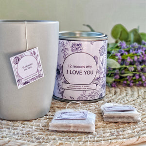 I LOVE YOU - Personalised Tea Bags with you own messages