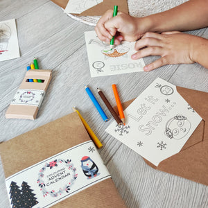 Personalised Christmas Colouring Advent Calendar eco-friendly