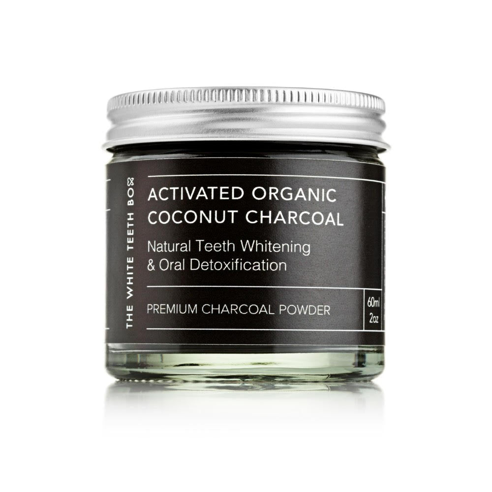 Activated organic coconut charcoal natural teeth whitening & oral detoxification powder. 60ml Jar, free shipping!