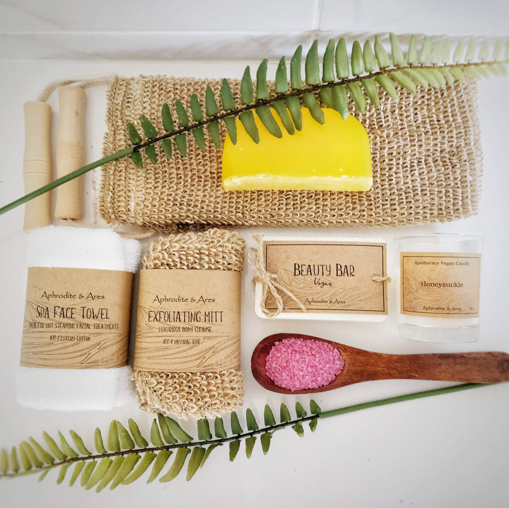 'Aphrodite' Pampering Vegan and Eco friendly Bath Gift set for her