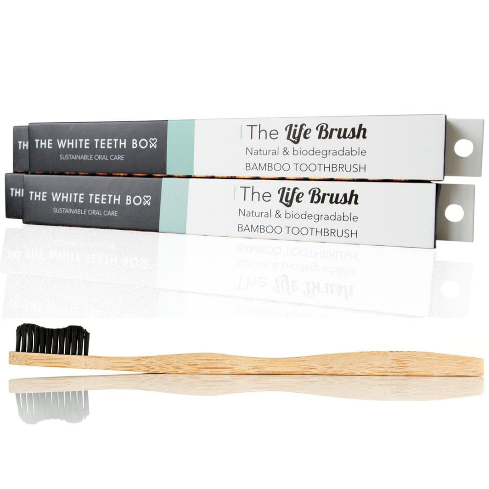 Natural & biodegradable bamboo toothbrush, free shipping!