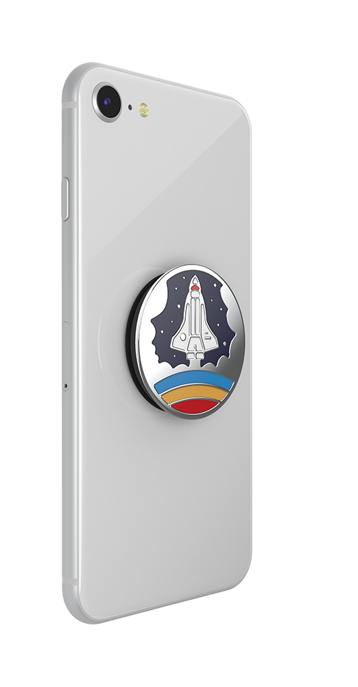Enamel Space Shuttle Navy 火箭出發 <可替換泡泡帽>, PopSockets