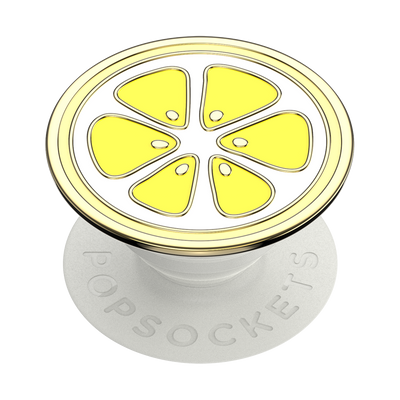 Enamel Lemon Slice Yellow 卡通檸檬 <可替換泡泡帽>, PopSockets