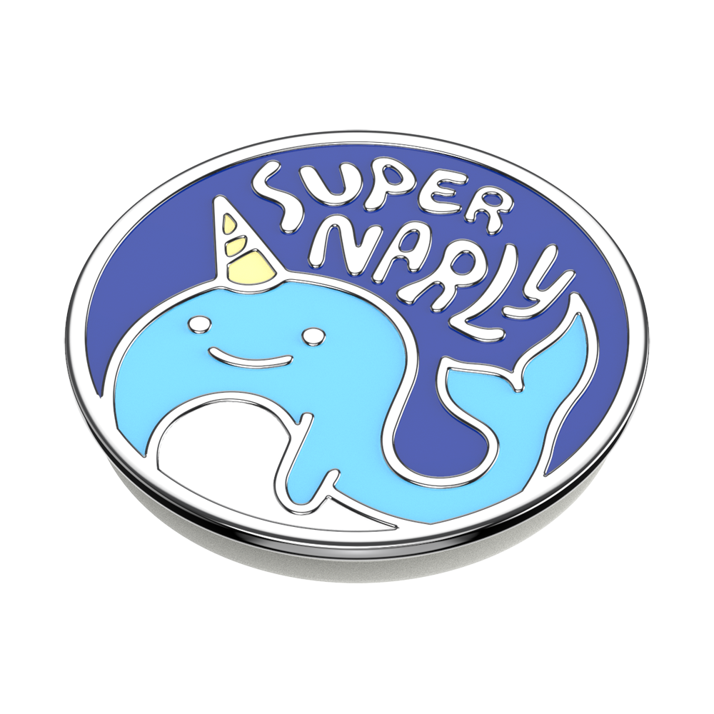 Enamel Super Narly Blue 獨角鯨藍<可替換泡泡帽>, PopSockets