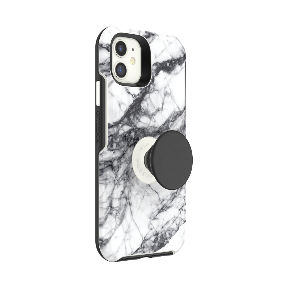 iPhone 11 Otter + Pop Symmetry - White Marble, PopSockets