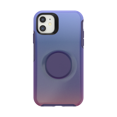 iPhone 11 Otter + Pop Symmetry - Violet Dusk, PopSockets