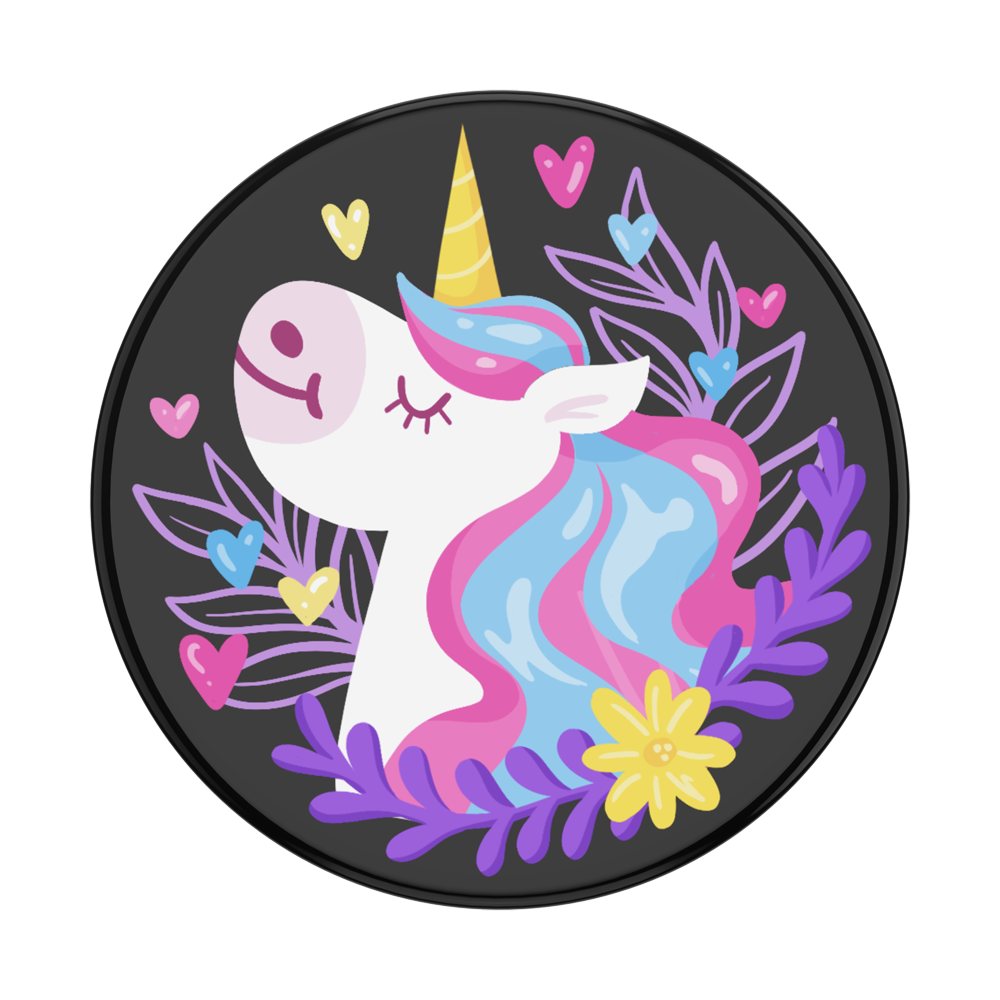 Unicorn Day Dreams Black Gloss 獨角獸白日夢 <可替換泡泡帽>, PopSockets
