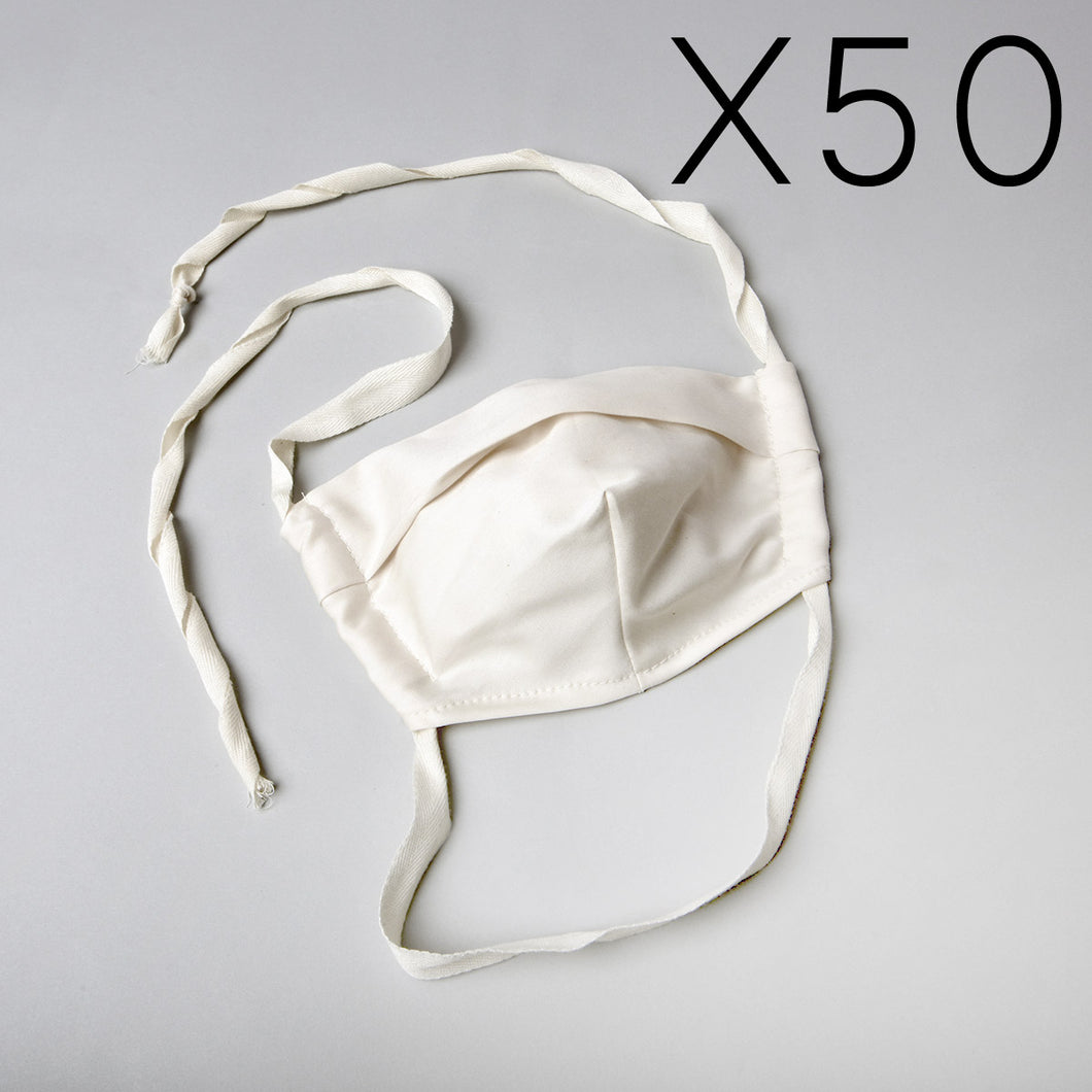 50 Organic Cotton Face Mask (10% off)