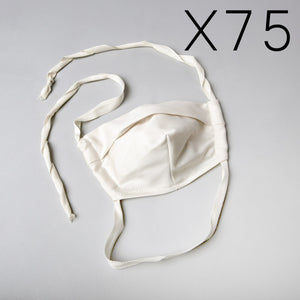75 Organic Cotton Face Masks (15% off)