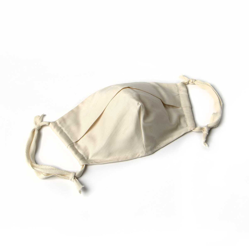 over the ear adjustable organic cotton face mask