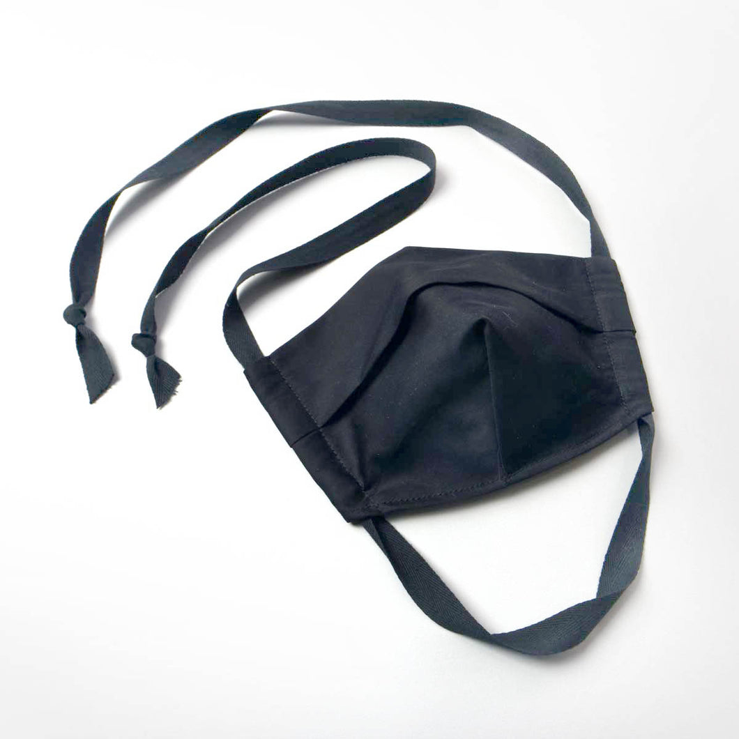 black face mask organic cotton