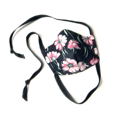 gucci face mask with pick flowers designer face masks