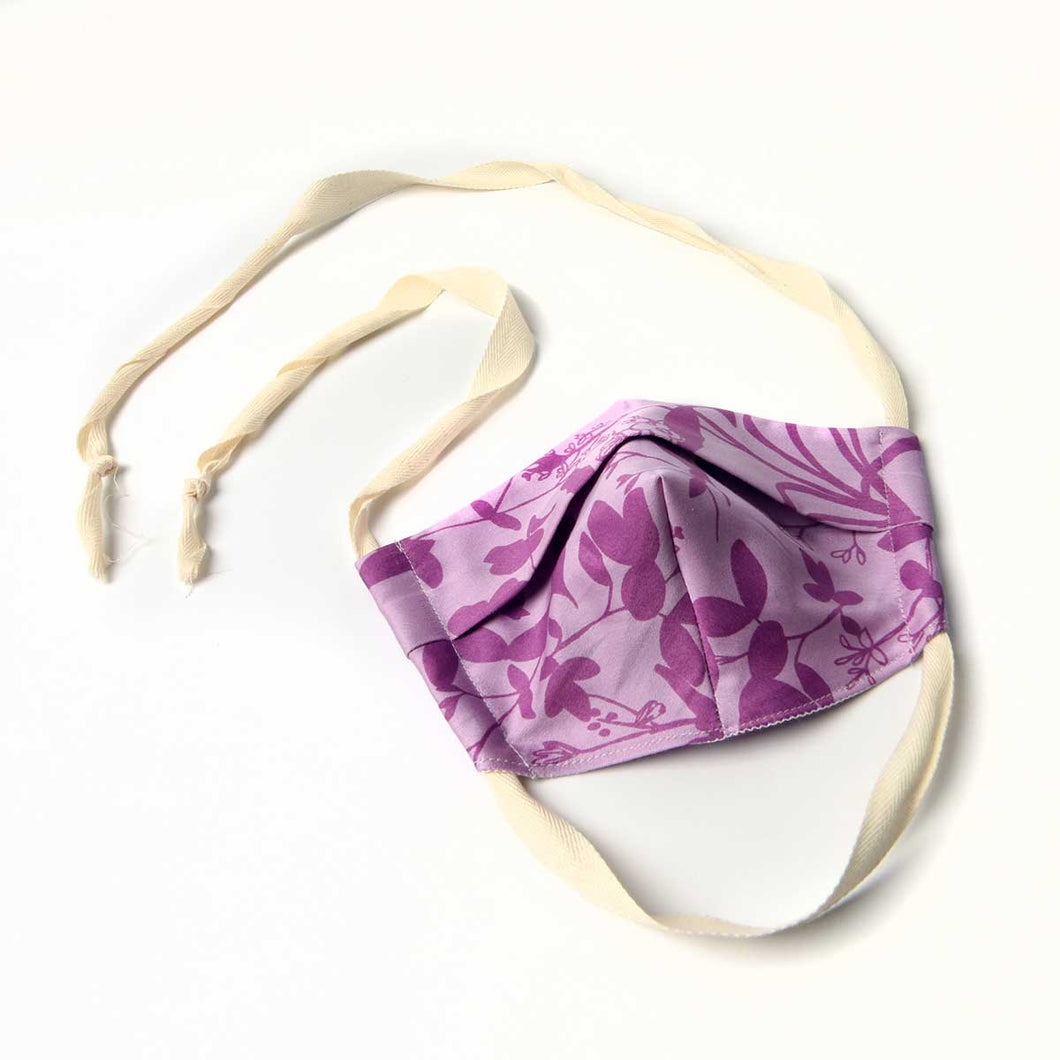 cloth face mask, lilac