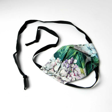 dolce and gabbana for women- face mask in hydrangea print