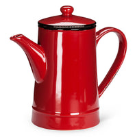 Enamel Look Tall Pot Red