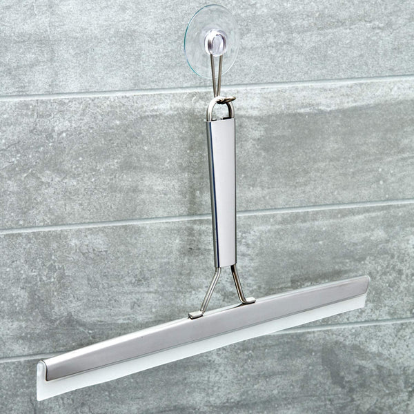 Forma Bathroom Shower Squeegee, 8-Inch, Polished Stainless Steel