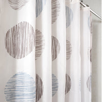 MOROCCAN WAVE SHOWER CURTAIN (BLACK)