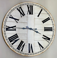 Whitewash Wood Clock